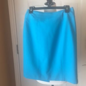 Worthington turquoise mini skirt size 6